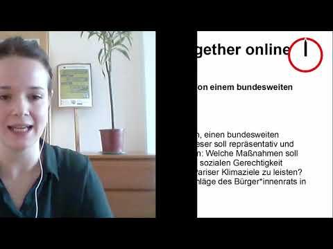 """25.01.2021, online, Bundestag: """"OnHour zur Anhörung im Petitionsausschuss für einen KlimaBürgerrat!"""""""